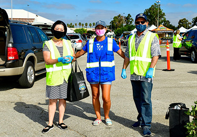 South County Grocery Distribution with Saddleback Church at Laguna Hills Mall 8/31/20